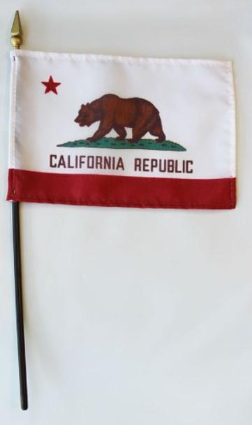4x6 Inch California Stick Flag