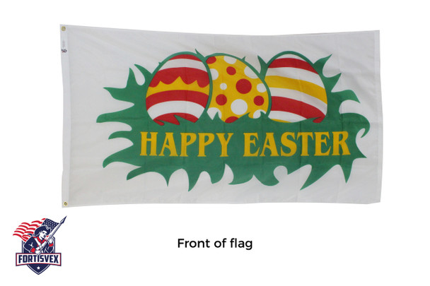 Happy Easter Eggs 3ftx5ft Nylon Flag 3x5 Made in USA 3'x5'