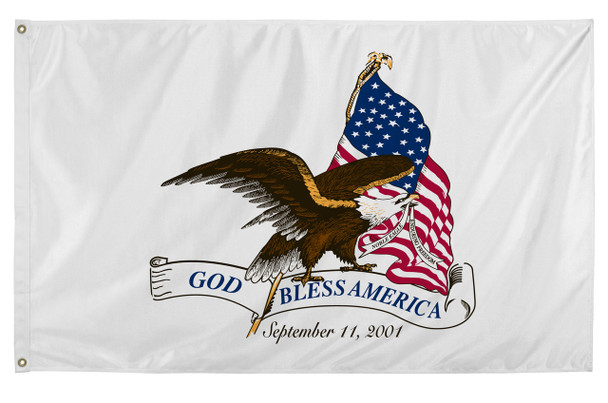 God Bless America 3ftx5ft Nylon Flag 3x5 Made in USA 3'x5'