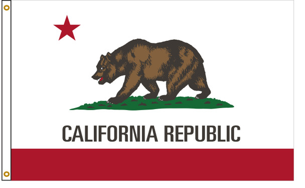 California 3'x5' Nylon State Flag 3ftx5ft
