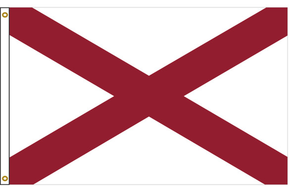 Alabama 3'x5' Nylon State Flag 3ftx5ft