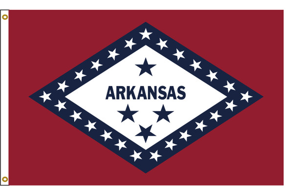 Arkansas 3'x5' Nylon State Flag 3ftx5ft