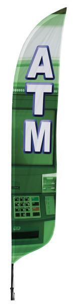 ATM Blade Flag 2ft x 11ft Nylon