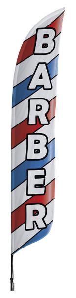Barber Blade Flag 2ft x 11ft Nylon