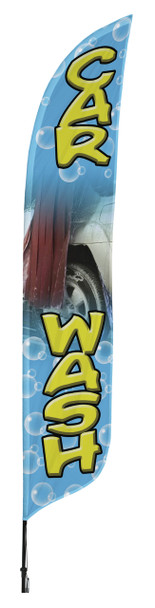 Car Wash Blade Flag 2ft x 11ft Nylon