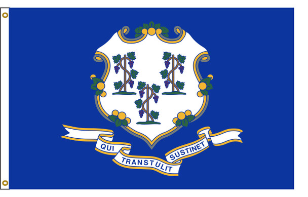 Connecticut 3'x5' Nylon State Flag 3ftx5ft