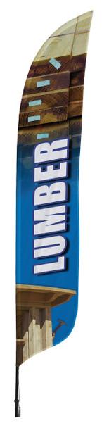 Lumber Blade Flag 2ft x 11ft Nylon