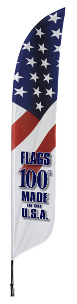 Flags Made in the USA Blade Flag 2ft x 11ft Nylon