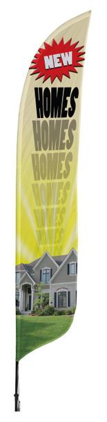 New Homes Blade Flag 2ft x 11ft Nylon