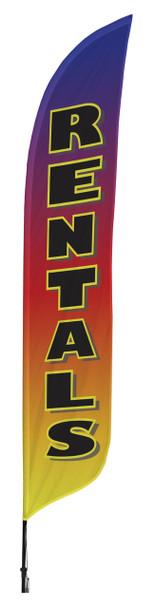 Rentals Blade Flag 2ft x 11ft Nylon