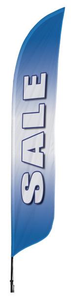 Sale Blue Blade Flag 2ft x 11ft Nylon