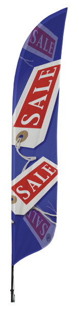 Sale Tag Blade Flag 2ft x 11ft Nylon