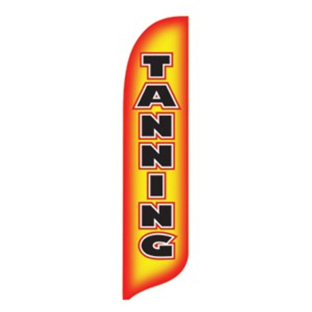 Tanning Blade Flag 2ft x 11ft Nylon