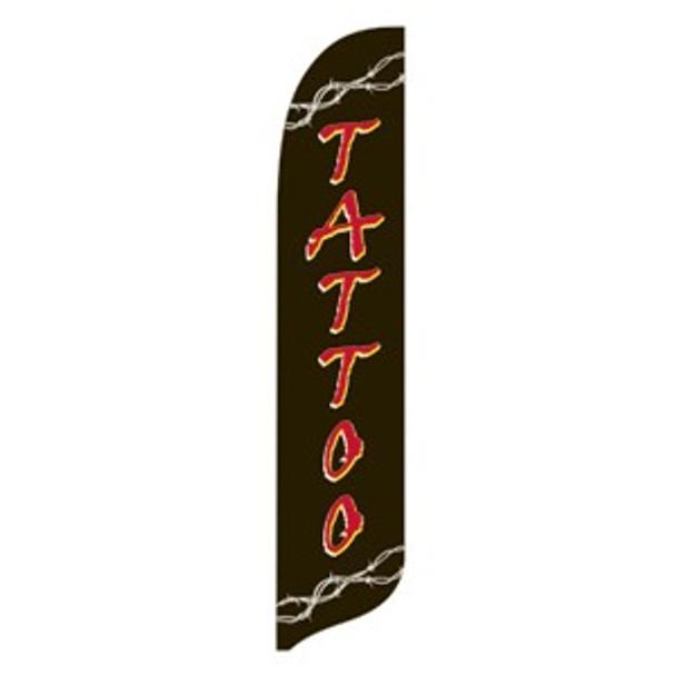 Tattoo Blade Flag 2ft x 11ft Nylon