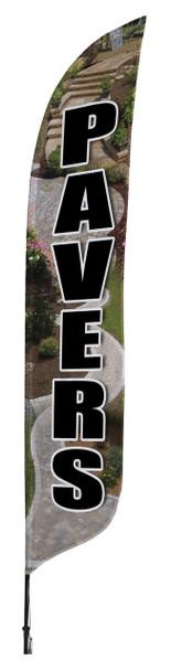 Pavers Blade Flag 2ft x 11ft Nylon