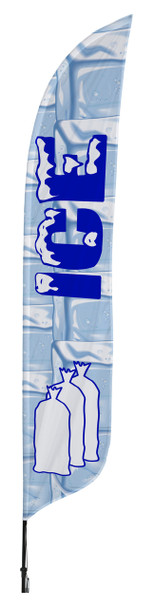 Ice Blade Flag 2ft x 11ft Nylon