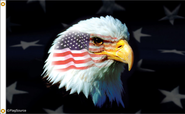 Patriotic Eagle 3ftx5ft Nylon Flag