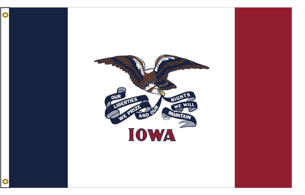 Iowa 3'x5' Nylon State Flag 3ftx5ft