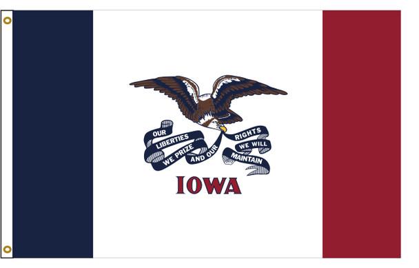 Iowa 3'x5' Nylon State Flag 3ftx5ft