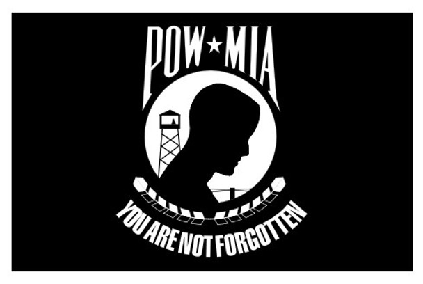 POW MIA Perma-Nyl 5x8 Feet Nylon Double Seal Flag By Valley Forge Flag