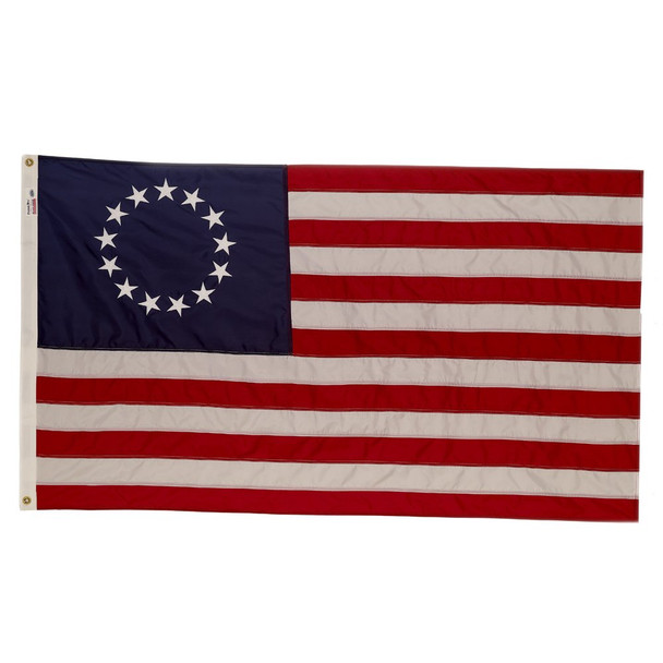 Perma-Nyl 3x5 Feet Nylon First Stars And Stripes Flag Betsy Ross Flag