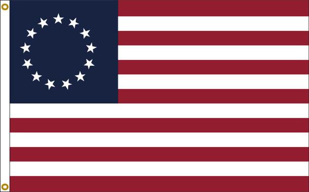 Betsy Ross Flag 3x5 Feet Nylon Presidential Series Sewn Made in USA