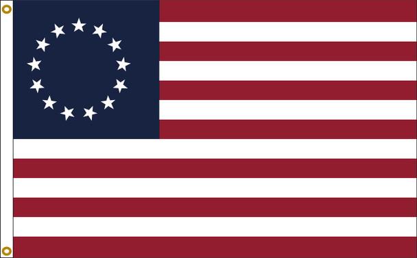Betsy Ross Flag 3x5 Feet Nylon Presidential Series Sewn Made in USA