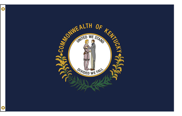 Kentucky 3'x5' Nylon State Flag 3ftx5ft