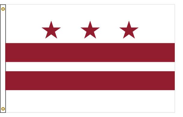 District of Columbia Washington DC 5'x8' Nylon State Flag 5ftx8ft