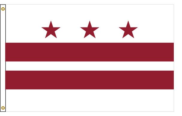 Washington, D.C. Flag 3x5 Feet Spectramax Nylon by Valley Forge Flag 35222540