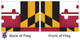 Maryland 8x12 Feet Nylon State Flag Made in USA