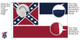 Mississippi 8x12 Feet Nylon State Flag Made in USA