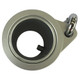 "Aluminum Metal 1"" Silver Rotating Flag Mounting Rings Long"