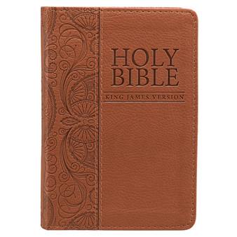 Tan Faux Leather Pocket Bible - KJV