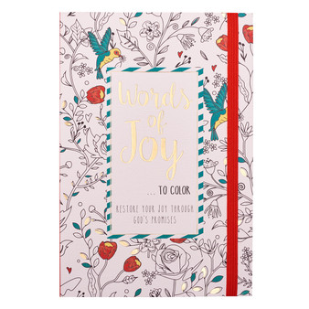 Words of Joy to Color Coloring Book