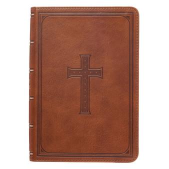 Medium Brown  KJV Bible Large Print Compact