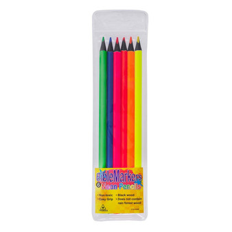 6 Piece Assorted Color Dry Pencil Bible Marker Set