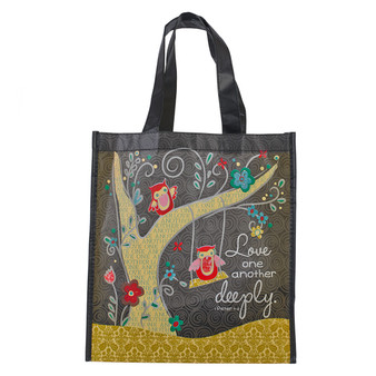 Love One Another Deeply 1 Peter 4:8 Tote Bag