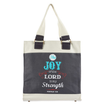 Retro Blessings, Joy Nehemiah 8:10 Tote Bag