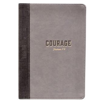 Courage LuxLeather Journal – Joshua 1:9