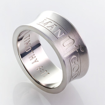 Man of God - 1 Timothy 6:11 Men's Ring