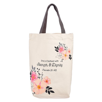 Strength & Dignity Tote Bag – Proverbs 31:25