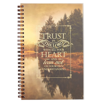 Trust in the Lord Nature Wirebound Notebook - Proverbs 3:5