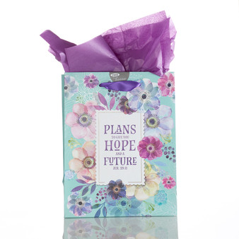 Medium Gift Bag: Plans Hope Future - Jeremiah 29:11