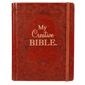 Hardcover My Creative Bible in Brown - KJV Journaling Bible
