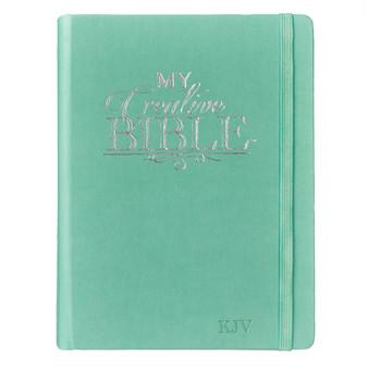 Hardcover My Creative Bible in Teal - KJV Journaling Bible
