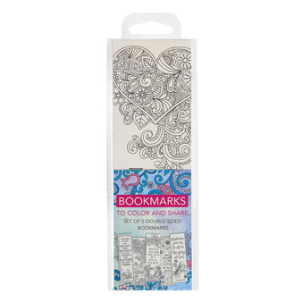 Color and Share Bookmarks - Blue