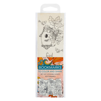 Color and Share Bookmarks - Orange