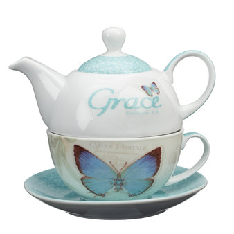 Grace Butterfly Blessings Tea for One Set
