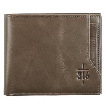 John 3:16 Cross Leather Wallet
